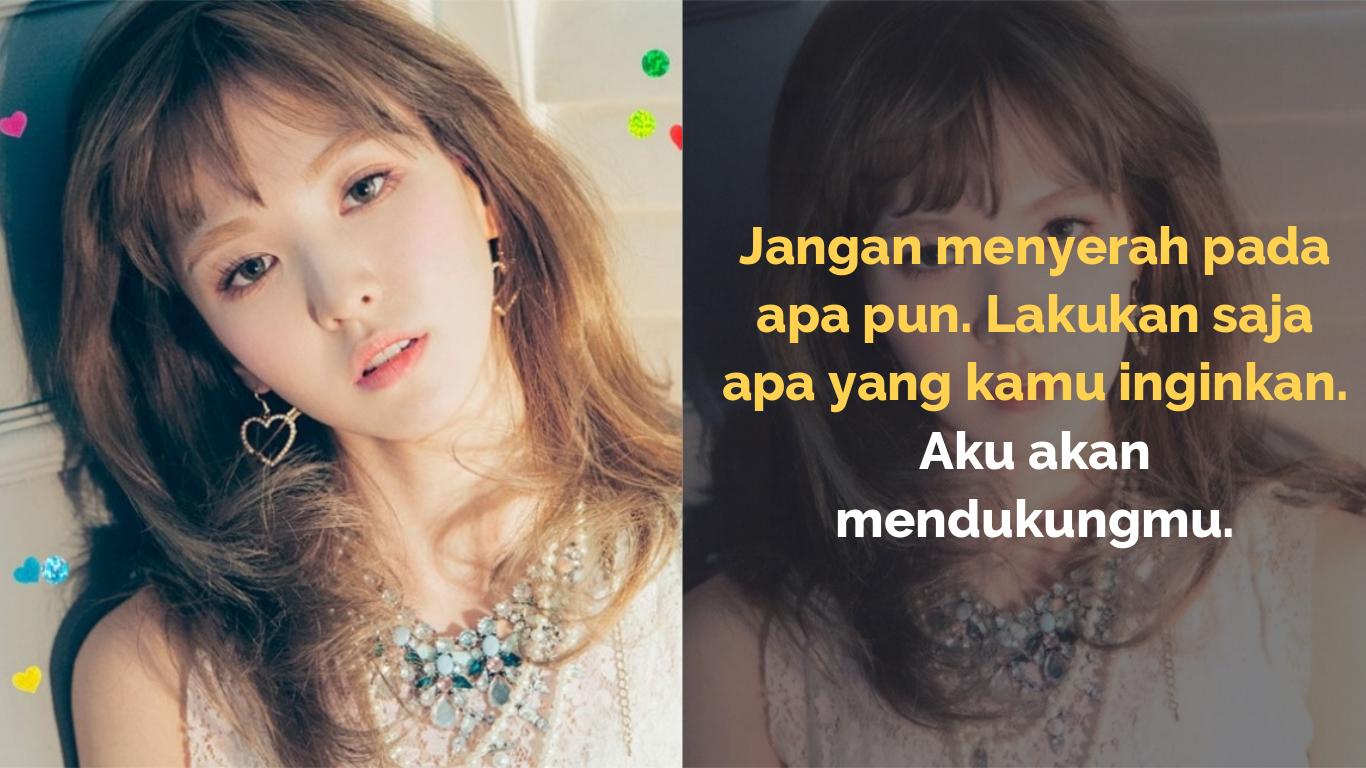 7 Quote Wendy Red Velvet Yang Bisa Jadi Motivasi Kamu Kepoper